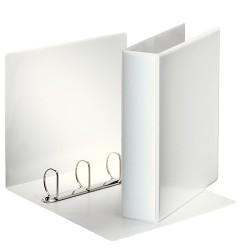 Panorámás gyűrűs könyv Esselte A/4 4 gyűrűs 75 mm fehér 49705