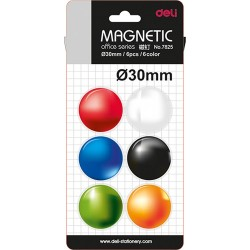 Mágneskorong DELI 30 mm 6 db-os vegyes színek