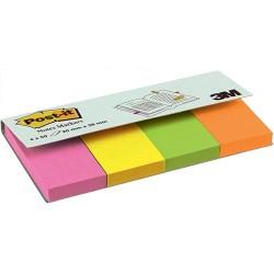 Oldaljelölő papír 3M Post-it 20x38 mm 4x50 lapos vegyes neon színek 670-4N