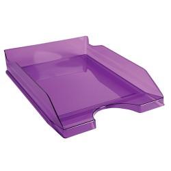 Irattálca műanyag Exacompta Ecotray A/4+ áttetsző lila