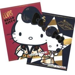Füzet A/4 Hello Kitty Elvis kockás