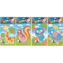 Kreatív készlet mozaik kép állatos 23x16 cm