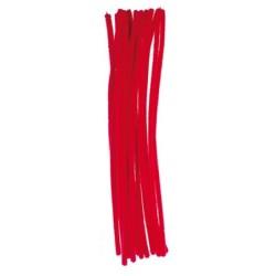 Kreatív zsenilia szálak 29 cm 16 db/csomag piros