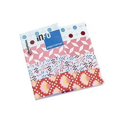 Oldaljelölő papír Info Notes 18x70 mm 4x25 lapos Petit Pan piros mintás