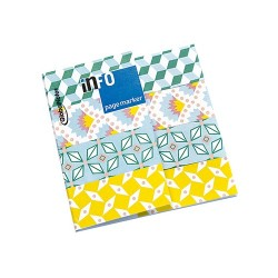 Oldaljelölő papír Info Notes 18x70 mm 4x25 lapos Petit Pan sárga/zöld mintás