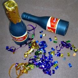 Party konfetti ágyú pezsgős üveg 20,5 cm
