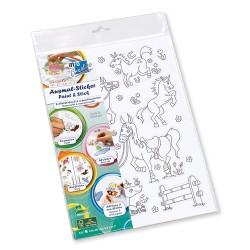 Kreatív színező Info Creative lányoknak és fiúknak A4, 10 lapos öntapadós lapokkal, bliszteres