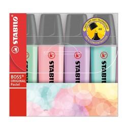 Szövegkiemelő Stabilo Boss Original pastel 4 db-os készlet