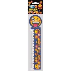 Vonalzó Centrum Emojidex 15 cm