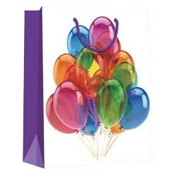 Dísztasak matt 11x14 cm lufik lila széllel