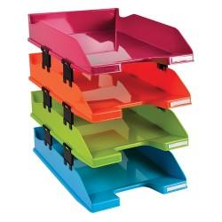 Irattálca műanyag Exacompta Combo Midi A/4+ 4 emeletes vegyes színek
