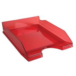 Irattálca műanyag Exacompta Ecotray A/4+ áttetsző piros