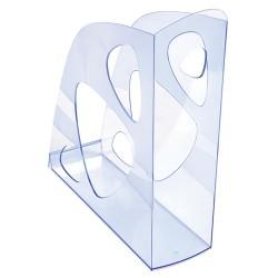 Iratpapucs műanyag Exacompta Ecomag A/4+ 7,7 cm gerinccel áttetsző jégkék