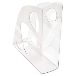 Iratpapucs műanyag Exacompta Ecomag A/4+ 7,7 cm gerinccel áttetsző