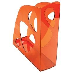 Iratpapucs műanyag Exacompta Ecomag A/4+ 7,7 cm gerinccel áttetsző mandarin