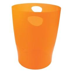 Papírkosár Exacompta Ecobin áttetsző mandarin