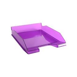 Irattálca műanyag Exacompta Combo Midi A/4+ áttetsző lila