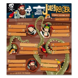 Füzetcímke Ars Una 3x6db/csomag Jolly Roger (806) 17