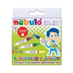 Zsírkréta Nebuló háromszög 12 db-os klt