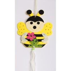 Filc lógó méhecske+virág