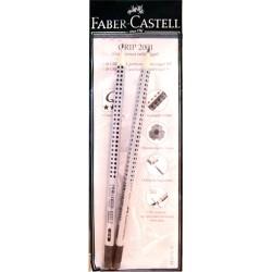 Grafitirón Faber-Castell Grip 2001 radíros grafit csomag: 2 db ceruza