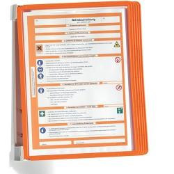 Bemutatótábla-tartó Durable Vario fali 5 db-os táblával narancssárga
