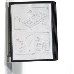 Bemutatótábla-tartó Durable Vario, fekete, mágneses rögzítéssel, 5 db panellel