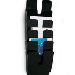 Prospektustartó Durable Flexiplus 6 rekeszes A/4, álló fekete