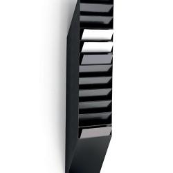 Prospektustartó Durable Flexiboxx 12 rekeszes A/4 ,álló fekete