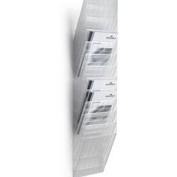 Prospektustartó Durable Flexiboxx 12 rekeszes A/4 , álló átlátszó