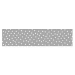 Asztalterítő 118x1000 cm papír damaszt dombornyomású csillagos ezüst