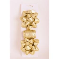 Masni szett glitteres arany (2db masni+kötöző 10m-es)