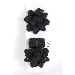 Masni szett glitteres fekete (2db masni+kötöző 10m-es)