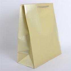 Dísztasak műanyag glitteres 26 x 32 cm arany