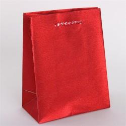 Dísztasak műanyag glitteres 11 x 15 cm piros