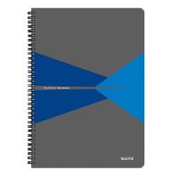 Spirálfüzet Esselte A/4 Office karton borítóval kockás, kék+ Cello toll