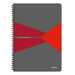 Spirálfüzet Esselte A/4 Office karton borítóval vonalas, piros+ Cello toll