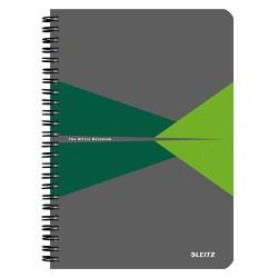 Spirálfüzet Esselte A/5 Office PP borítóval kockás zöld