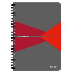 Spirálfüzet Esselte A/5 Office karton borítóval kockás, piros+ Cello toll