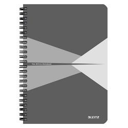 Spirálfüzet Esselte A/5 Office karton borítóval vonalas, szürke+ Cello toll