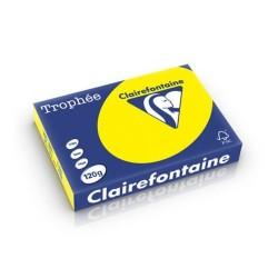 Másolópapír színes Clairefontaine Trophée A/4 120g intenzív sárga 250 ív/csomag (1292)
