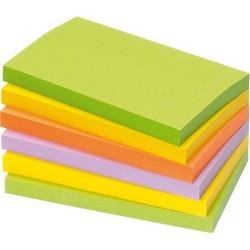 Öntapadós jegyzettömb Info Notes 125x75 mm 100 lapos élénk vegyes színek Spring