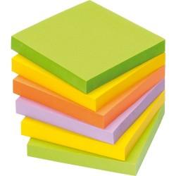 Öntapadós jegyzettömb Info Notes 75x75 mm 100 lapos élénk vegyes színek Spring
