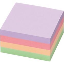 Öntapadós jegyzettömb Info Notes 75x75 mm 400 lapos pasztell vegyes színek Harmony