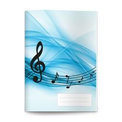 Füzet pd nagyalakú 86-32 hangjegy blue