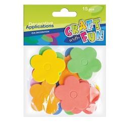 Kreatív CF dekorgumi virágok 15 db/csomag