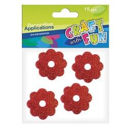 Kreatív CF dekorgumi virágok metálos vegyes forma 15 db/csomag
