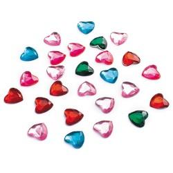 Kreatív CF dekor kristály szív vegyes színű 75 db/csomag