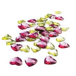 Kreatív CF dekor kristály szív piros-sárga színű 50 db/csomag