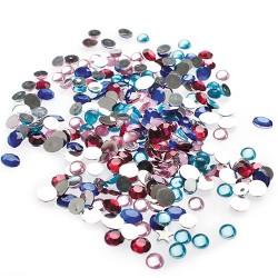 Kreatív CF dekor kristály kerek vegyes színű 100 db/csomag